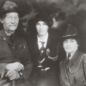 Juliette Gordon Low with Baden Powell